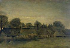 Vincent Van Gogh. Village at Sunset, 1884