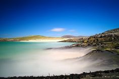 Seilebost, Isle of Harris, Outer Hebrides  Bright white sand beaches, gorgeous (but COLD) turquoise seas  ...