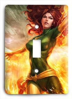 Jean Grey Girl On Fire G814 Light Switch