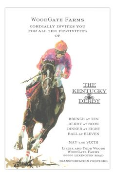 Turn In It On Kentucky Derby Party Invitation