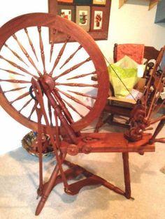 Gorgeous-Jensen-D-30-Saxony-Production-Spinning-Wheel Spinning Wheels, Spinning Yarn, Spin Me Right Round, Yarn Crafts, Rocking Chair, Bobs, Lana, Sheep, Eye Candy