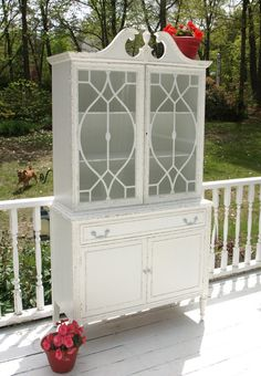 Shabby Chic Antique China Cabinet/Hutch by Nottheendoftheroad, $325.00