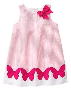 Toddler Girls Pink Seersucker Dress Size M - Toddler Girls Dresses - Gymboree Baby & Kids Clothing & Accessories Little Girl Outfits, Little Dresses, Little Girl Dresses, Girls Dresses, Toddler Dress, Toddler Outfits, Kids Outfits, Toddler Girls, Baby Kids