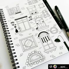 """2,970 curtidas, 19 comentários - Apsi's visual notes & doodles (@therevisionguide) no Instagram: """"Reposting some 2015 stuff from my personal page @__apsi__ ・・・ Window doodles . . . . . . #doodle…"""""""