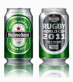 Heineken Rugby World Cup 2011 Beer Can