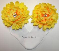 #Pageant Glitz Bright Yellow Mum Flower #Socks