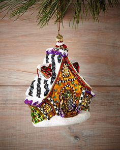 Gingerbread+Cottage+Christmas+Ornament+by+MacKenzie-Childs+at+Bergdorf+Goodman.