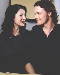 These two <3 Caitiona Balfe and Sam Heughan