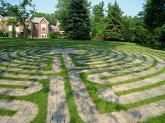 Jessica's Labyrinth, Chatham University, Pittsburgh PA. Lovely shot in partial shade.