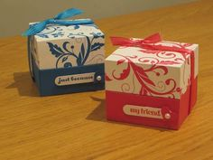 CraftyCarolineCreates: Elegant Lined Gift Box with Flush Fitting Lid - Video Tutorial using Flowering Flourishes from Stampin' Up