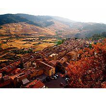 Photographic Print View over Sperlinga, Sicily by Douglas E.  Welch