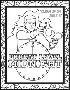 coloring pages threat level midnight