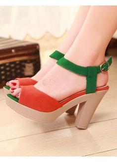 Stylish Faux Leather Buckle Women's Dress Sandals  - Sandals - Shoes