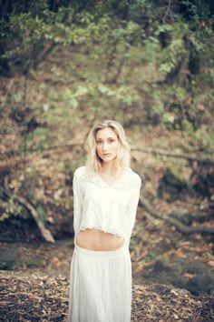 Sage by Dusty Knapp / Pixelvice http://dusty.im #whitedress #bridal #photoshoot #photography #portrait #editorial #fashionshoot #fashion #dress #white #forest #woods #adventure #hiking #colors #people #inspo #photoshootinspo #lake #summer #autumn #fall