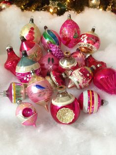 vintage-christmas-lot-20-large-pink-and