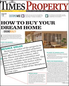 """Mr. Santraj Kasana- CMD (Morpheus Group) Quote has been appeared today's """"TIMES PROPERTY"""" (TIMES OF INDIA) #timesproperty #timesofindia #realestate #dreamhome"""