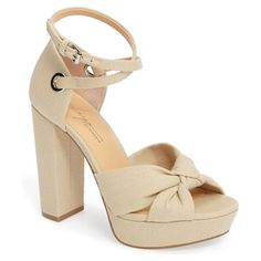 On SALE at 41% OFF! by zen mission ankle wrap platform pump by Daya. A flirty knot at the toe, slender wraparound ankle straps, and a wrapped chunky heel and rocker platform elevate your...