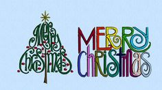 Merry Christmas Tree Words machine embroidery design by lynellen, $5.00