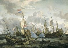 Abraham Storck - the Four Days Battle, 1666