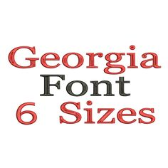Georgia Machine Embroidery Font Alphabet - 6 Sizes by mysewcuteboutique on Etsy https://www.etsy.com/listing/196107788/georgia-machine-embroidery-font-alphabet