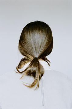 Easy weekend hair.