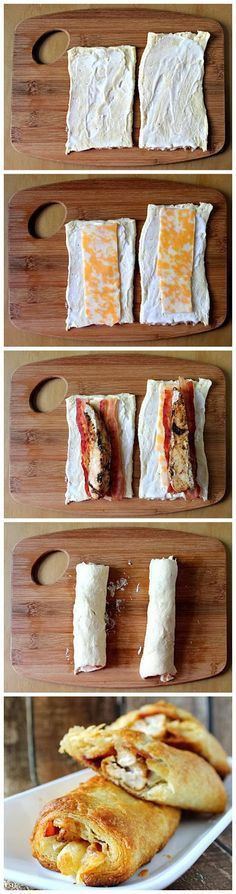 Sweethow: Ranch Chicken Club Roll-Ups