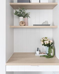 In case you missed this cute as little study nook from a project late last year, here she is! Don't you love the v groove detail on the… Ikea Play Kitchen, Ikea Kitchen Cabinets, Kitchen Reno, Kitchen Remodel, Kitchen Ideas, Custom Cabinet Doors, Custom Cabinets, Study Nook, Study Space