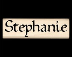 Name Rubber Stamp for Kids Stephanie by StampsbyImpression, $8.00