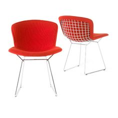 Bertoia Side Chair, Fully Upholstered By Knoll