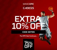 We're giving back with an extra 10% off in our EPIC SALE!