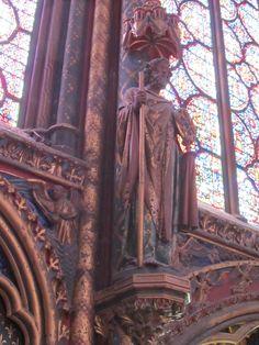 Paris, France - inside Sainte-Chapelle 1248