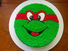Teenage mutant ninja turtles buttercream birthday cake red green J. P. Bakes