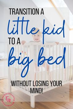 Simple tips and tricks to easily make the transition from a crib to a toddler bed. Easily make the move and keep the transition smooth. #sleeptips #toddler #naptime #milestone Advice For New Moms, Mom Advice, Parenting Toddlers, Parenting Ideas, Toddler Sleep Training, Toddler Quotes, Toddler Milestones, Emotional Child, Kids Behavior