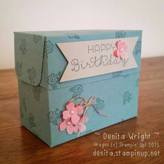 A Gift Box made using the Gift Bag Punch Board! Made by Denita Wright Independent Stampin' Up! Demonstrator Australia
