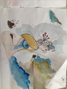 Nose dress  made my watercolour and pen