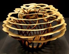 I love that wood art by Alain Mailland …..so neat and creative.