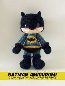 BATMAN AMIGURUMI FREE PATTERN - has other cute free patterns