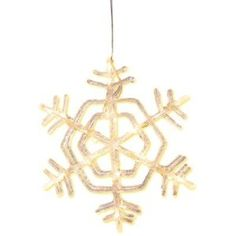 Star 583-20 Crystal Flocon de Neige 24 LEDs Blanc Chaud Acrylique 30 x 30 cm