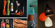 DIY Paper Yarn Lamp - http://www.interiordesignwiki.com/architecture/diy-paper-yarn-lamp/