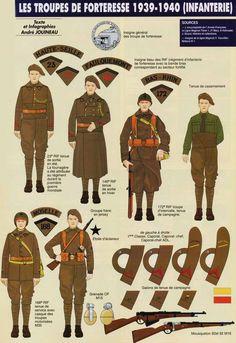 Военнослужащие из подразделений оборонительных укрепрайонов Французской армии