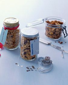 5 Edible Gift Ideas: Easy Granola, Ready-to-Make Hot Cocoa, Cranberry Tea Bread, All-Purpose Spice Rub and Double Chocolate Biscotti  {via Whole Living}