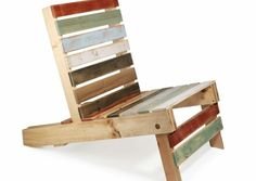 diy projekt bunte gartenmöbel aus paletten stuhl basteln