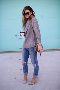 Fall Trench StyleSuper Cozy SweaterPink Fringe