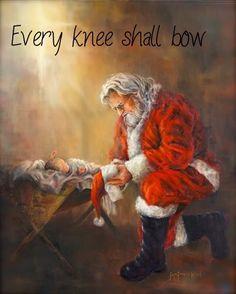 Santa and the Baby Jesus print More