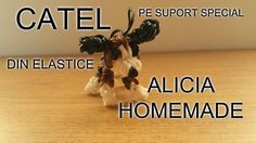 Catel din elastice din colectia animale gumite loom, catelus facut pe suport special rainbow loom Rubber Bands, Homemade, Decor, Decoration, Home Made, Decorating, Hand Made, Deco