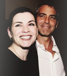 George Clooney and Julianna Margulies