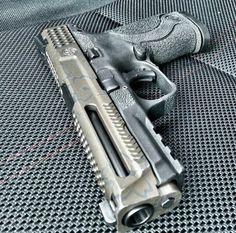 M&P Custom, pistol, guns, weapons, Weapons Guns, Guns And Ammo, Rifles, Airsoft, Custom Guns, Custom Glock, Cool Guns, Tactical Gear, Firearms