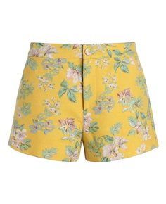 Mid-rise Flowers-print Wide-leg Shorts