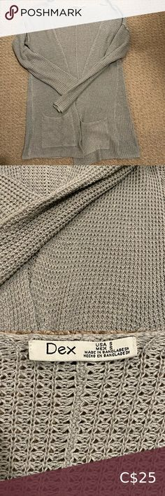 Shop Women's Dex Gray size S Cardigans at a discounted price at Poshmark. As seen on Schitts Creek Annie Murphy aka Alexis Rose. Schitts Creek, Annie, Sweater Cardigan, Cardigans, Gray Color, Sweaters For Women, Comfy, Knitting, Rose