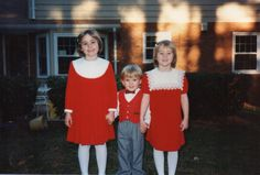 Christmas 1988 - Lindsey, Betsy, Alex